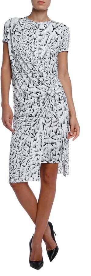 HELMUT LANG Strata Print Jersey Dress