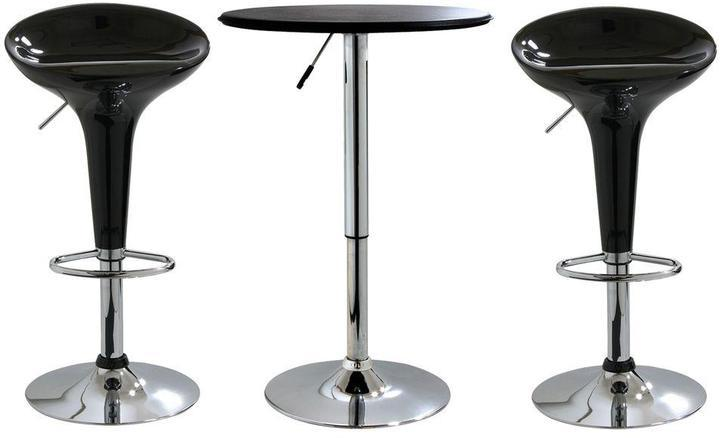 black bar stool set with table