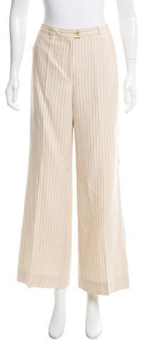 Carolina Herrera Striped Wide-Leg Pants