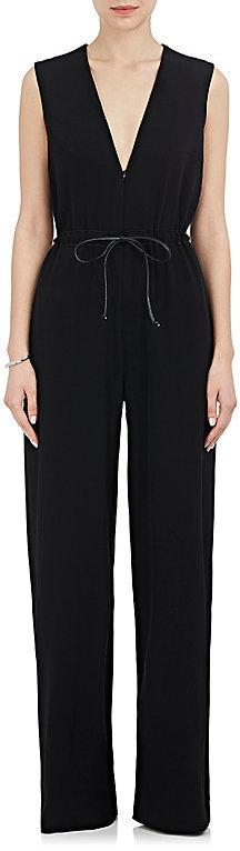 Martin Grant MARTIN GRANT WOMEN'S STRETCH WOOL-BLEND DRAWSTRING JUMPSUIT