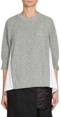 Sacai Ribbed Wool Pullover