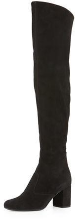 Saint Laurent Babies Suede Over-The-Knee Boot