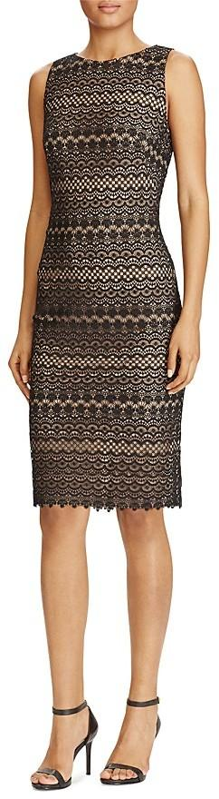 Lauren Ralph Lauren Petites Lace Sheath Dress