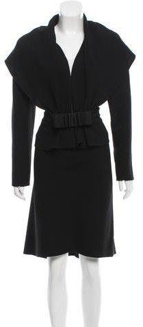 Valentino Wool Two-Piece Skirt Suit