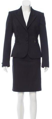 Roberto Cavalli Wool Peak-Collar Skirt Suit w/ Tags