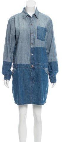 Current/Elliott Two-Tone Denim Dress