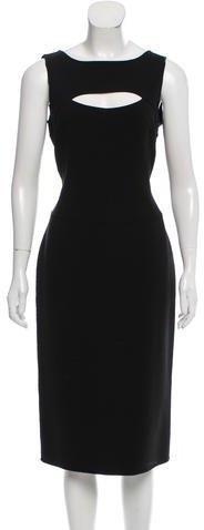 Michael Kors Wool-Blend Midi Dress