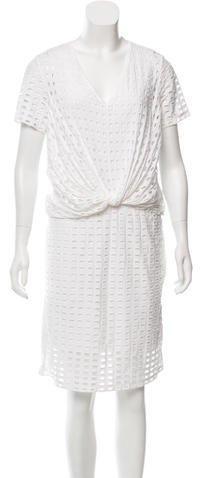 Carven Embroidered Knee-Length Dress