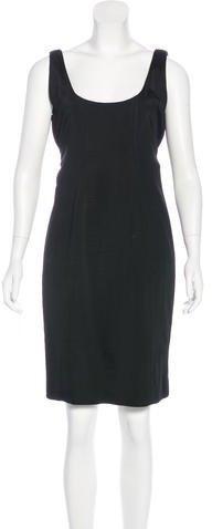 Versace Sleeveless Knee-Length Dress