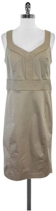 Iris Setlakwe Taupe Cotton & Leather Sleeveless Dress