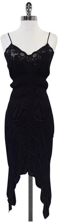 Jean Paul Gaultier Black Ruched Dress