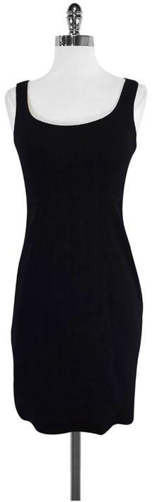 LaVia 18 Black Wool Sleeveless Dress