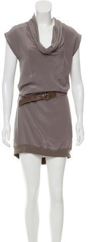 Gunex Knee-Length Silk Dress