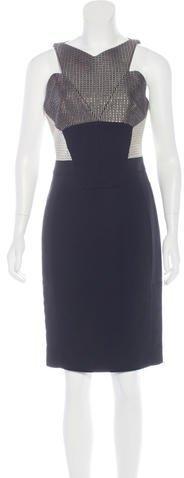 Antonio Berardi Sleeveless Knee-Length Dress