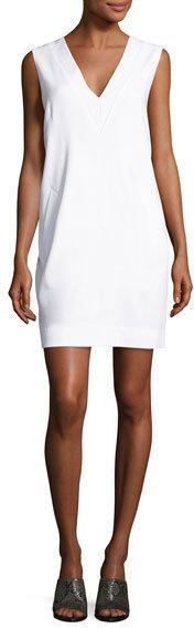 Rag & Bone Phoebe Sleeveless Ponte Sheath Dress, White