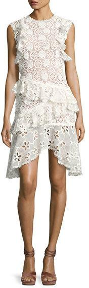 Alexis Arleigh Sleeveless Lace Tiered Dress
