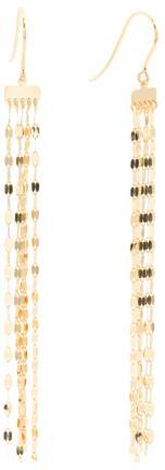 Made In Italy 14k Gold Tassel Earrings