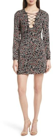 Women's Saloni Nurul Floral Print Lace-Up Dress