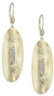 Meira T Diamond & 14K Yellow Gold Drop Earrings