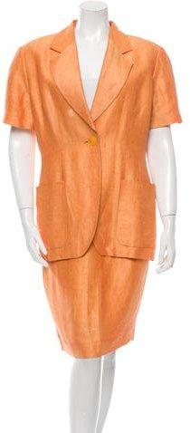 Fendi Short Sleeve Pencil Skirt Suit