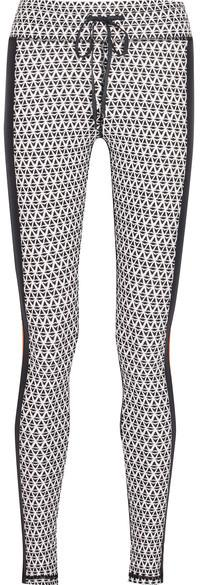 The Upside - Majestic Paneled Printed Stretch Leggings - Black