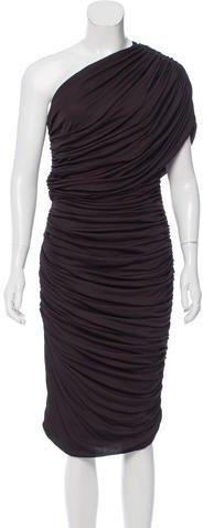 Giambattista Valli One-Shoulder Midi Dress