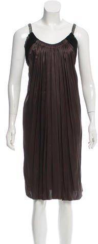 Lanvin Embellished Satin Dress
