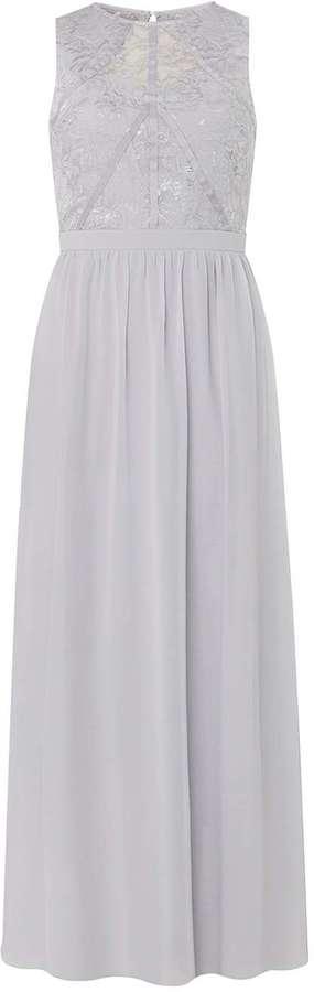 **Showcase Grey Evening Maxi Dress