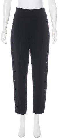 A.L.C. Embellished High-Rise Straight-Leg Pants