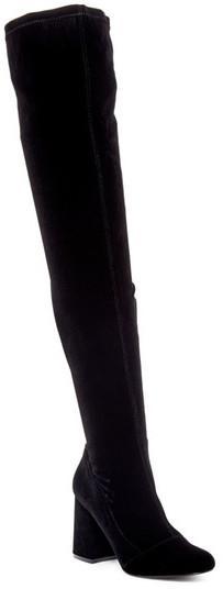 Shellys London Harriet Thigh-Knee Velvet Boot