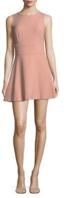 Plain Fit-&-Flare Dress