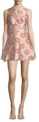 Circles Fit-&-Flare Dress