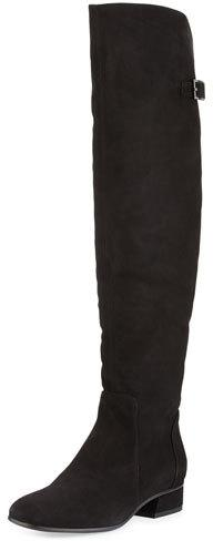 Aquatalia Lala Suede Over-the-Knee Boot, Black