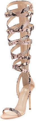 Giuseppe Zanotti for Jennifer Lopez Emme 105mm Gladiator Sandal
