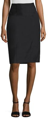 Cotton Darted Pencil Skirt