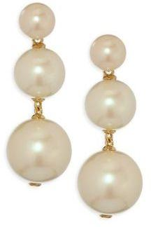 Kate Spade New York Golden Girl Faux-Pearl Drop Earrings