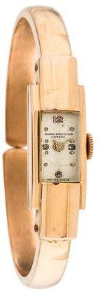 Baume & Mercier 18K Cuff Watch