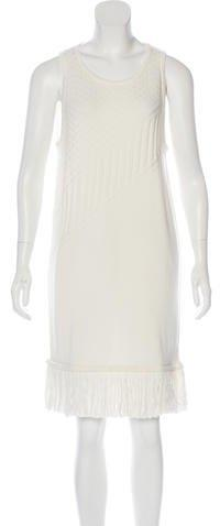 Timo Weiland Fringe-Trimmed Knit Dress