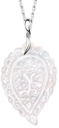 Tamara Comolli India Leaf Pendant Necklace in 18K White Gold