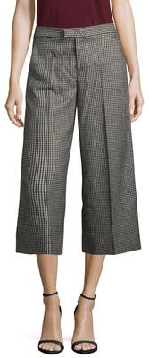 Houndstooth Cropped Wide Leg Pant