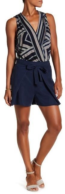 BCBGeneration Belted Wrap Shorts