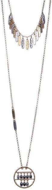 Melrose and Market Short Charm and Pendant Necklace - Set of 2