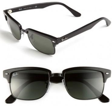 ray ban squared clubmaster  Ray Ban Clubmaster Square Blue
