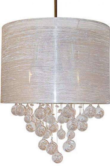 Sharper Image Lighting, Textured Silver Shade 15