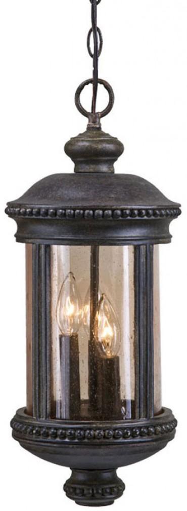 Hanging Lantern 3 Light Outdoor Black Coral Light Fixture