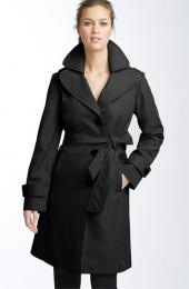Collection Ellen Tracy Short Hooded Trench (Nordstrom Exclusive)