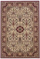 "Couristan Area Rug, Everest Ardebil Ivory Red 3' 11"" x 5' 3"""