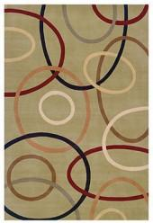 Momeni Area Rug, Elements EL-09 Sage 5' x 8'