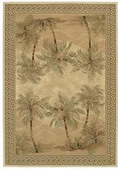 "Couristan Area Rug, Everest Palm Tree/Desert Sand 2803/6387 3'11"" x 5'3"""