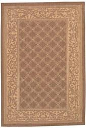 "Couristan Area Rug, Recife Indoor/Outdoor Cubic Garden Lattice/Natural-Cocoa 1016/3000 3'9"" x 5'5"""